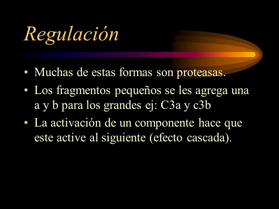 Regulación Muchas de estas formas son proteasas.