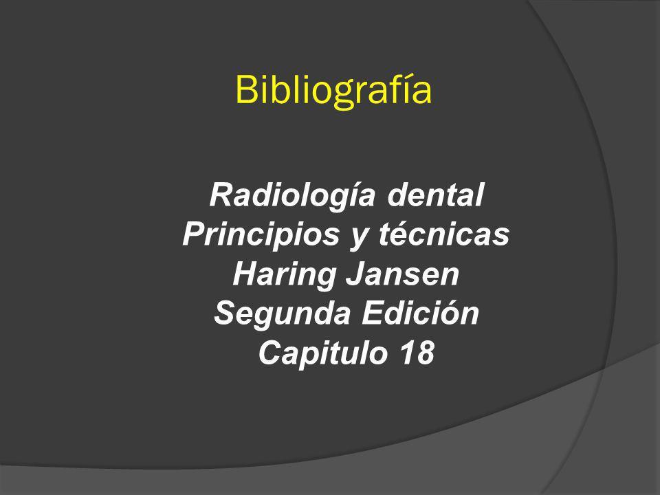 Bibliografía Radiología dental Principios y técnicas Haring Jansen