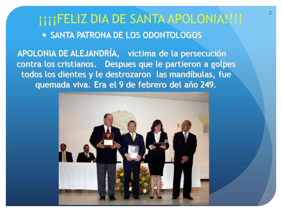 ¡¡¡¡FELIZ DIA DE SANTA APOLONIA!!!!