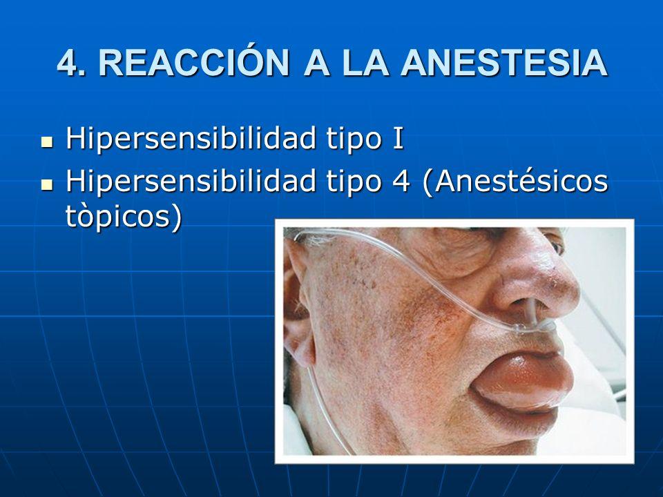 4. REACCIÓN A LA ANESTESIA
