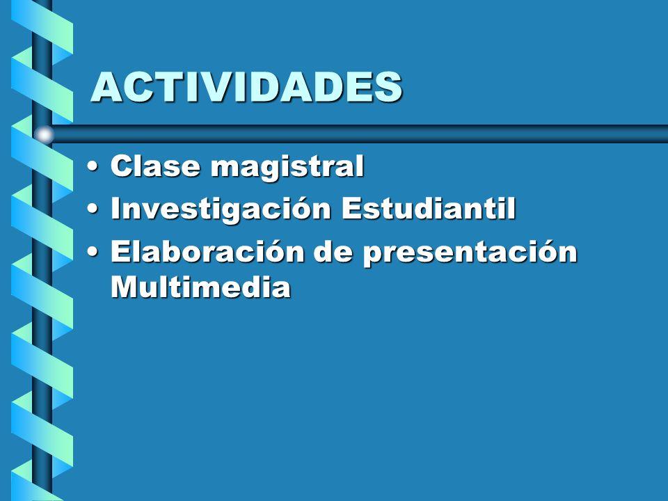 ACTIVIDADES Clase magistral Investigación Estudiantil