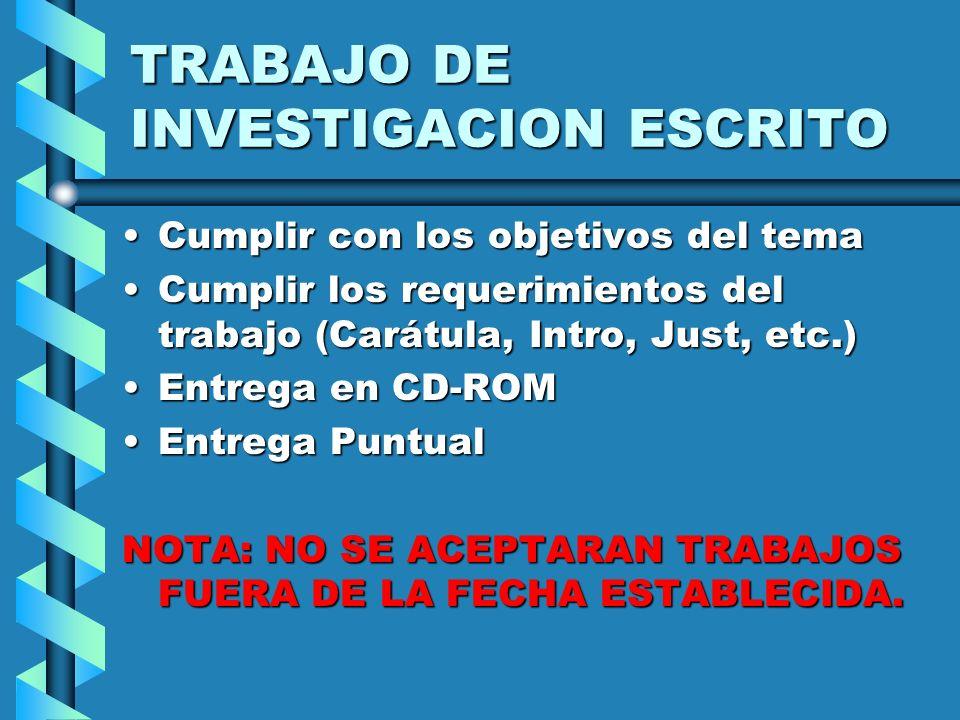 TRABAJO DE INVESTIGACION ESCRITO