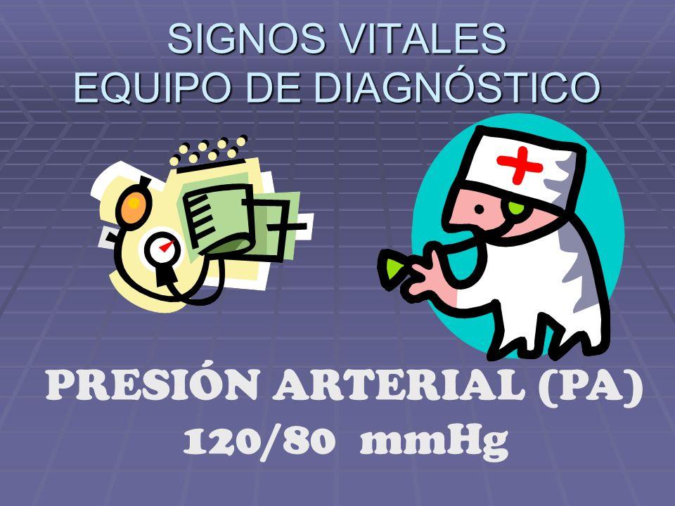 SIGNOS VITALES EQUIPO DE DIAGNÓSTICO