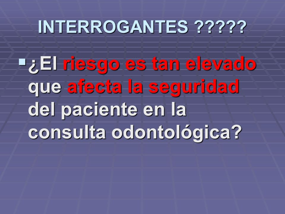 INTERROGANTES .