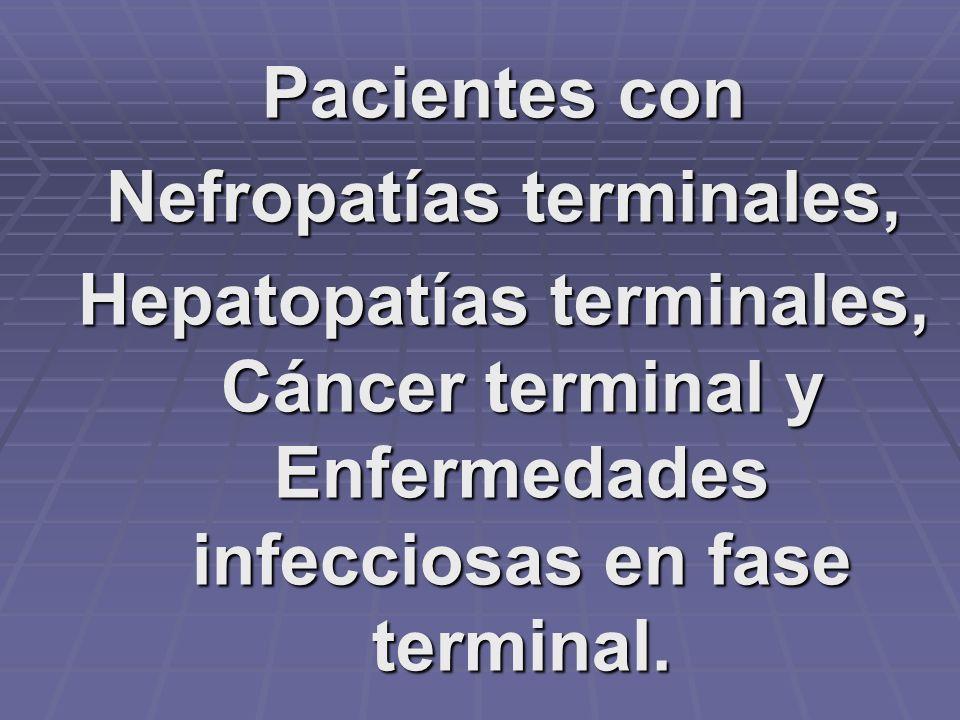 Nefropatías terminales,