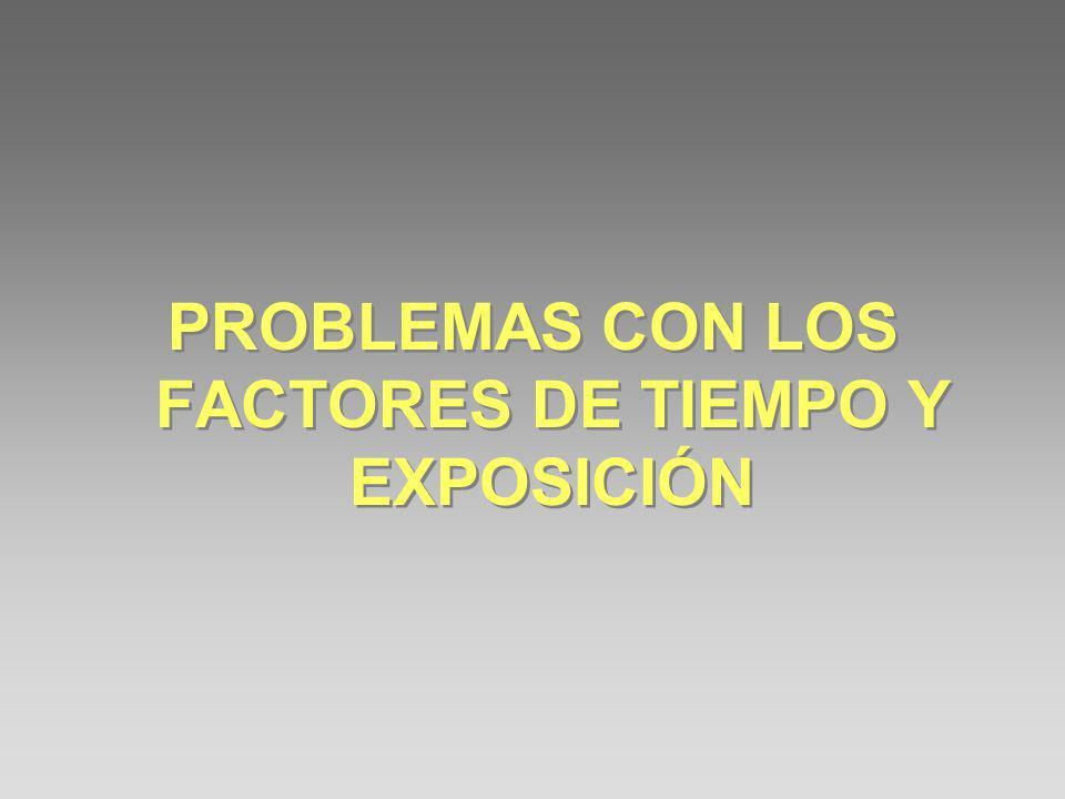 PROBLEMAS CON LOS FACTORES DE TIEMPO Y EXPOSICIÓN
