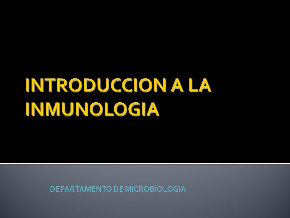 INTRODUCCION A LA INMUNOLOGIA