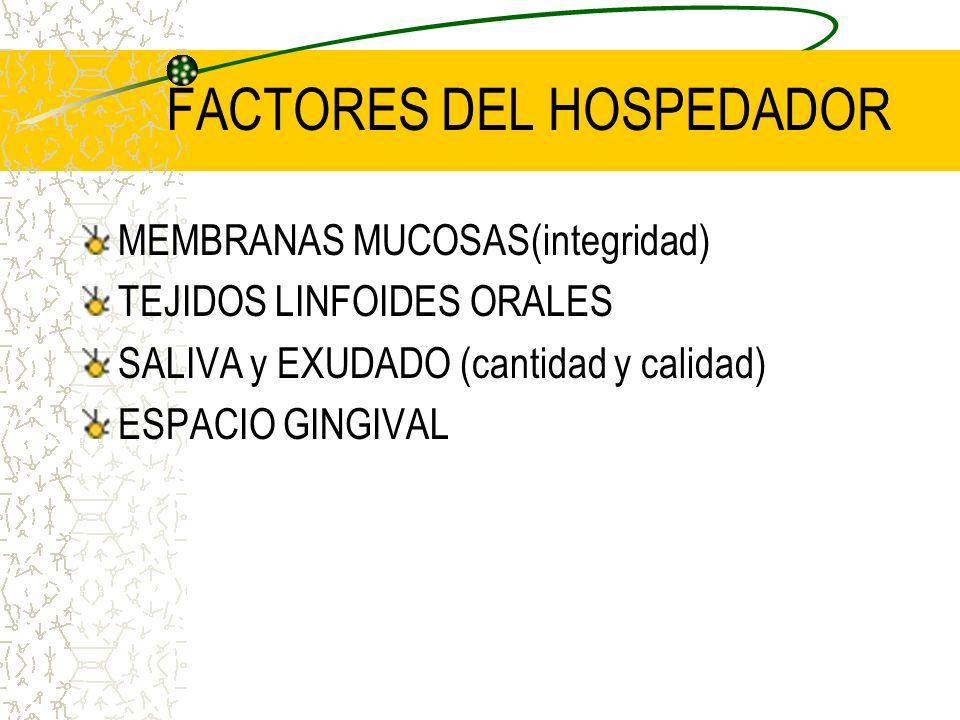 FACTORES DEL HOSPEDADOR