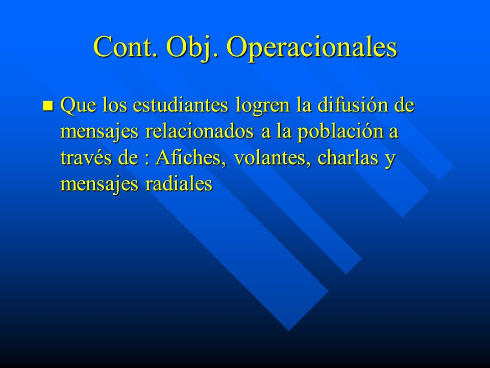 Cont. Obj. Operacionales