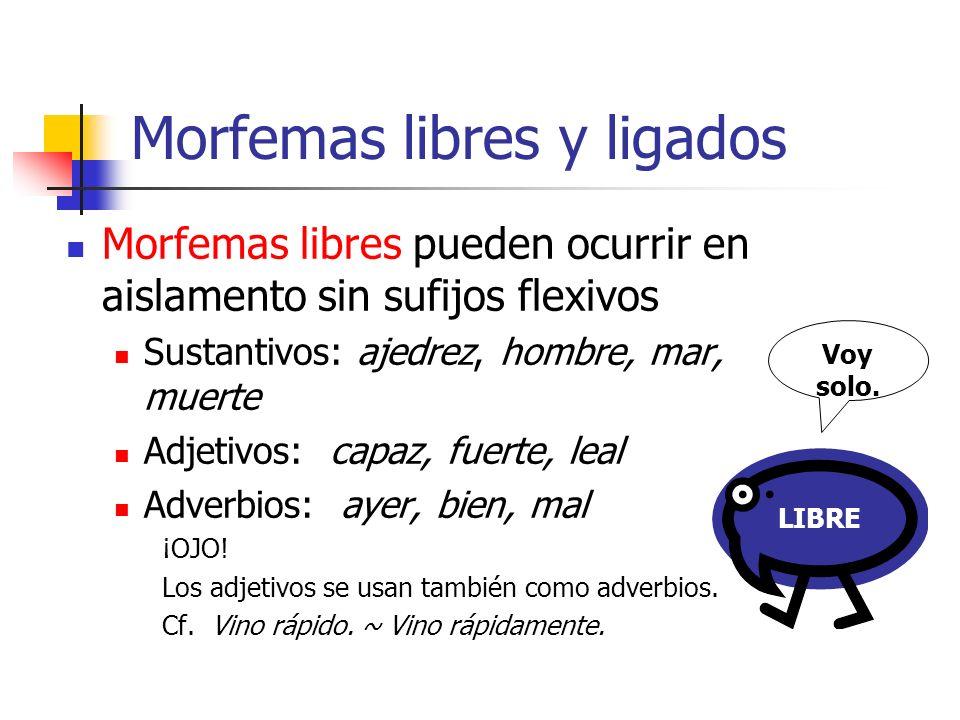 Morfemas libres y ligados