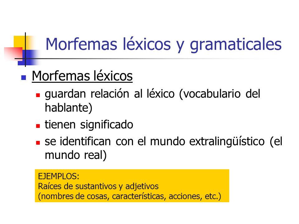 Morfemas léxicos y gramaticales