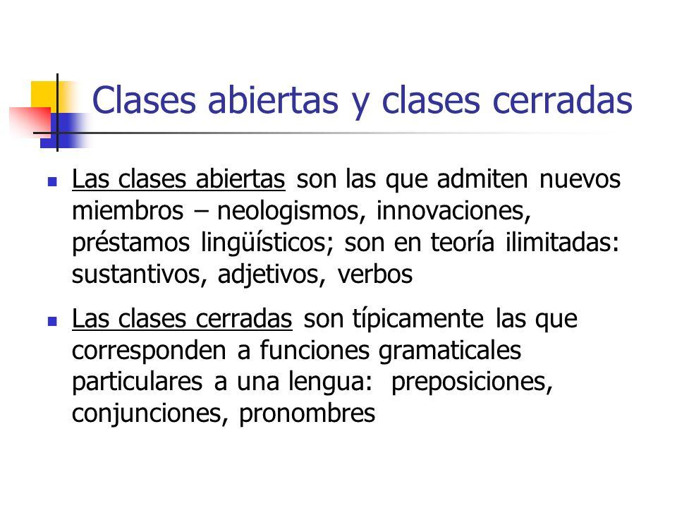 Clases abiertas y clases cerradas