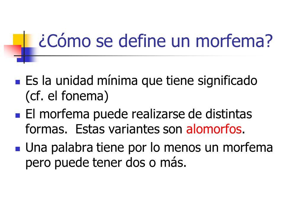 ¿Cómo se define un morfema