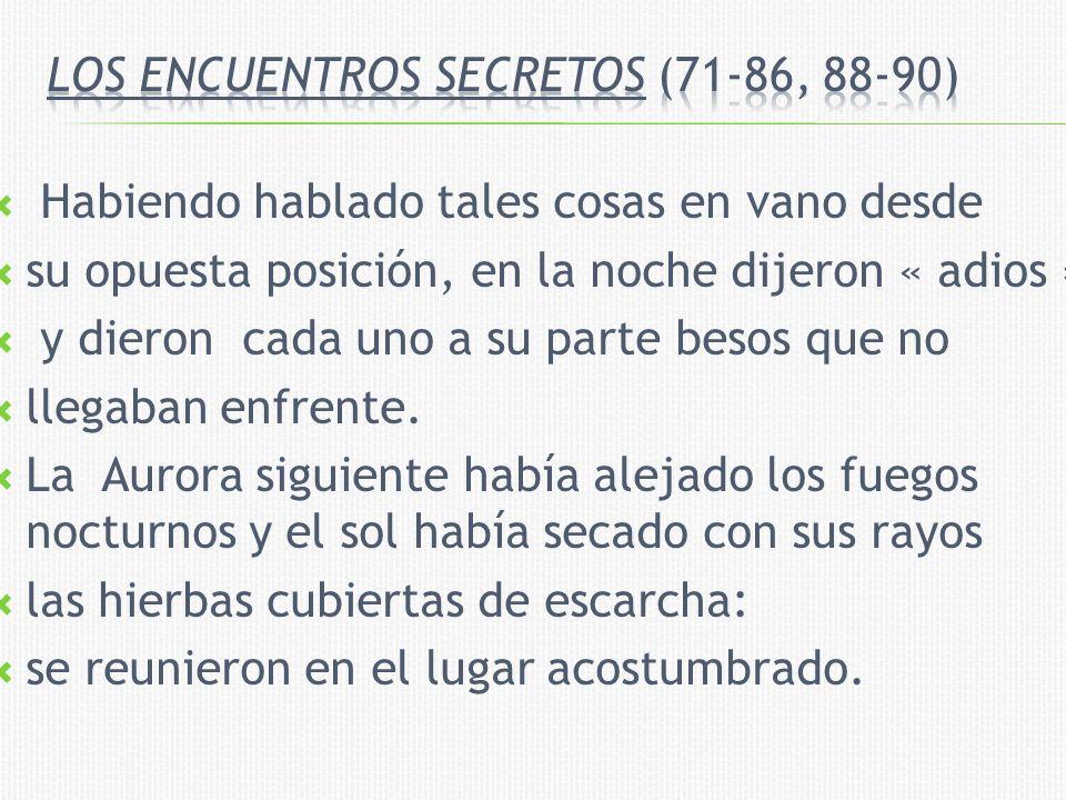 Los encuentros secretos (71-86, 88-90)