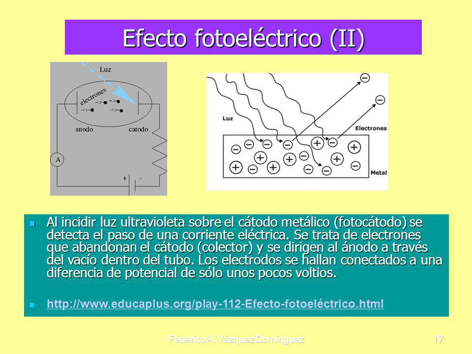 Efecto fotoeléctrico (II)