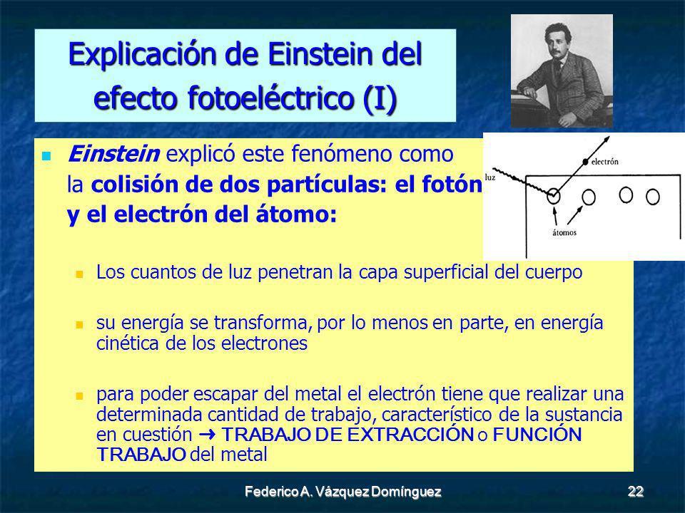 Explicación de Einstein del efecto fotoeléctrico (I)