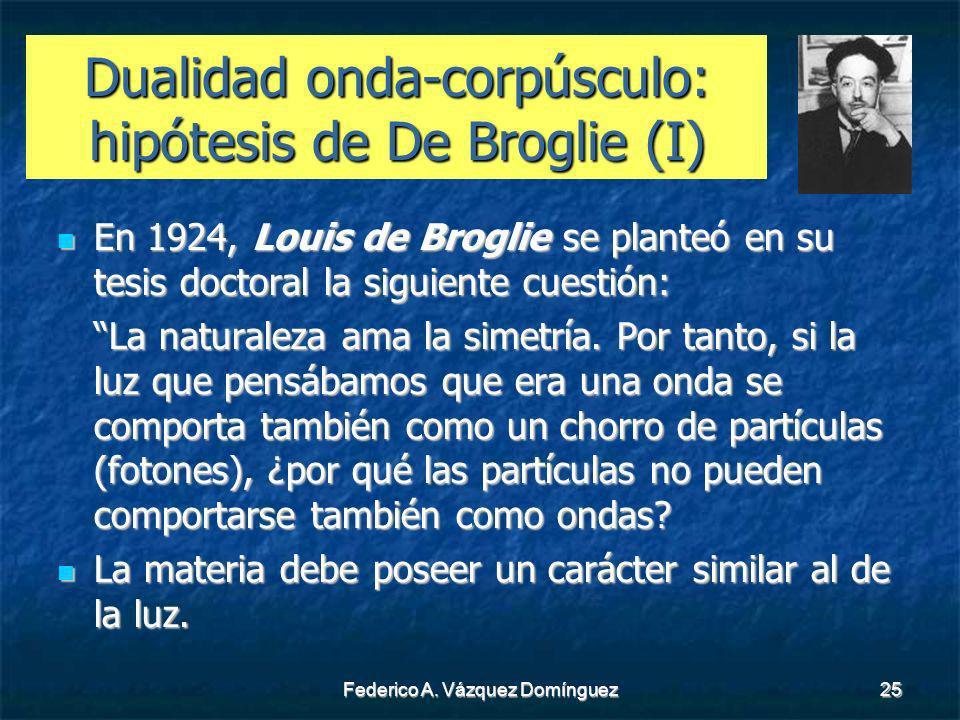 Dualidad onda-corpúsculo: hipótesis de De Broglie (I)
