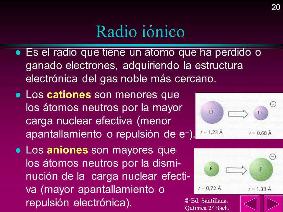 © Ed. Santillana. Química 2º Bach.