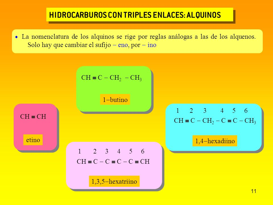 HIDROCARBUROS CON TRIPLES ENLACES: ALQUINOS