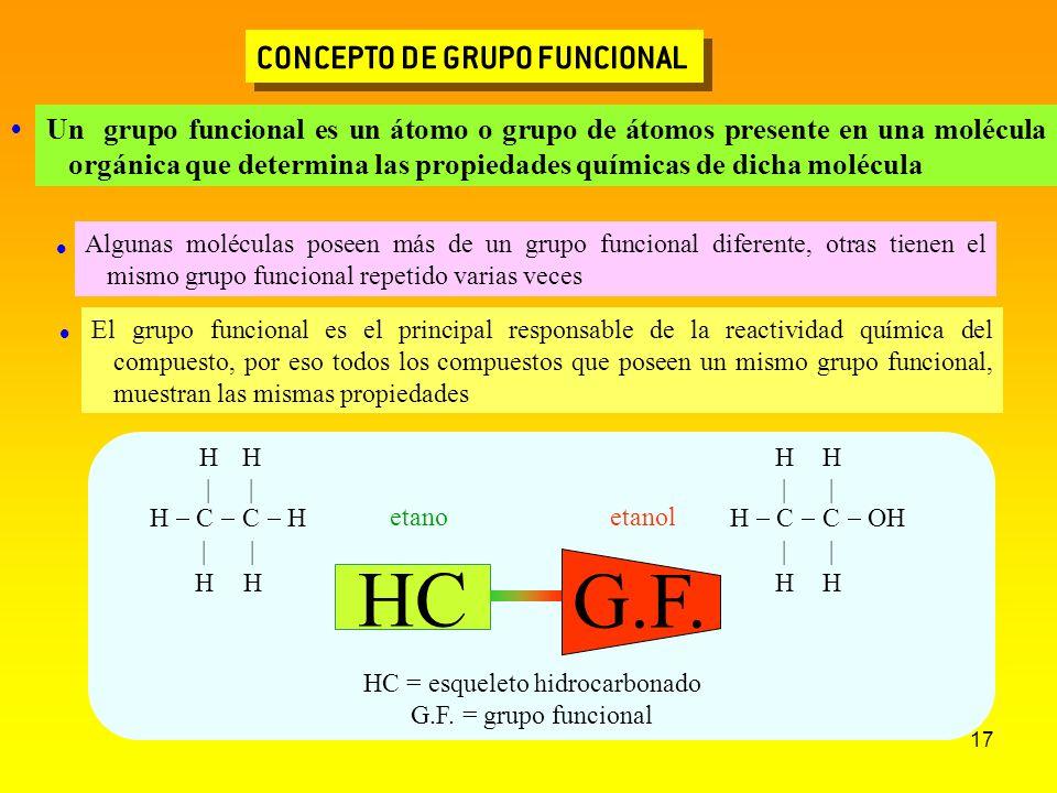 HC = esqueleto hidrocarbonado