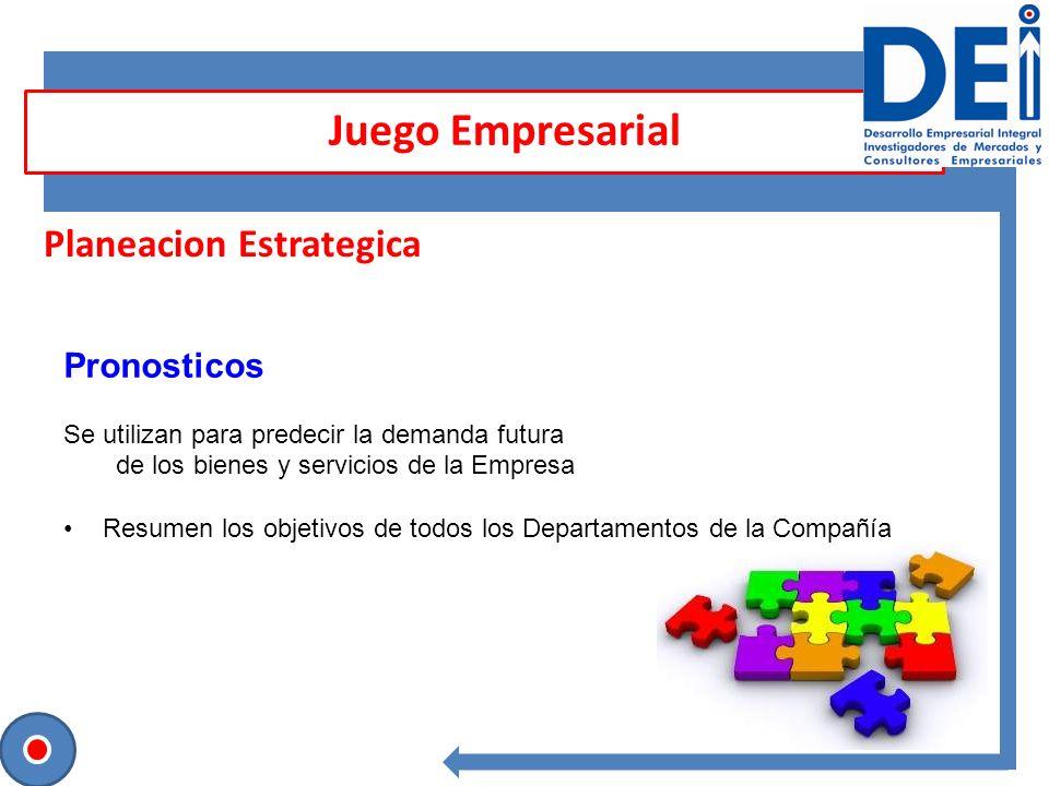 Juego Empresarial Planeacion Estrategica Pronosticos