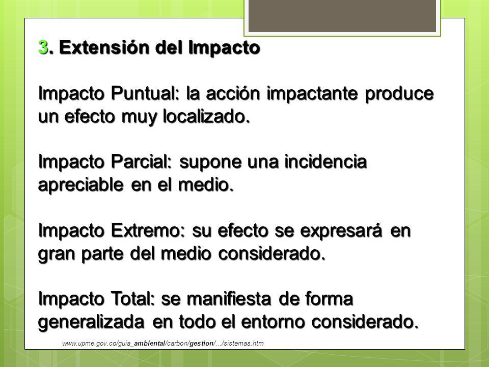Impacto Parcial: supone una incidencia apreciable en el medio.