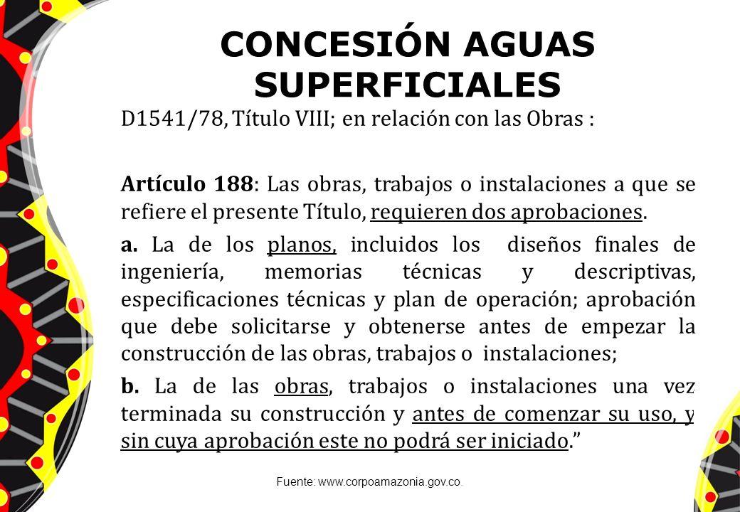 CONCESIÓN AGUAS SUPERFICIALES