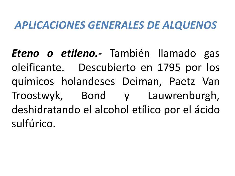 APLICACIONES GENERALES DE ALQUENOS