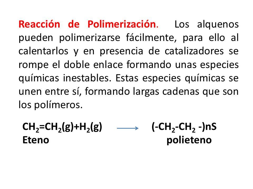 Reacción de Polimerización