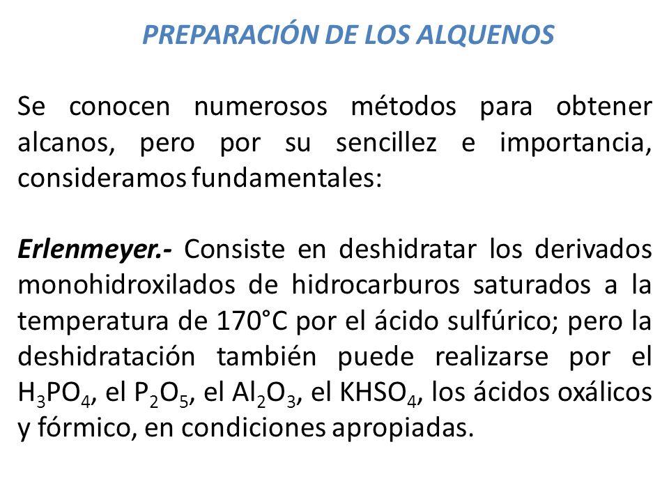 PREPARACIÓN DE LOS ALQUENOS