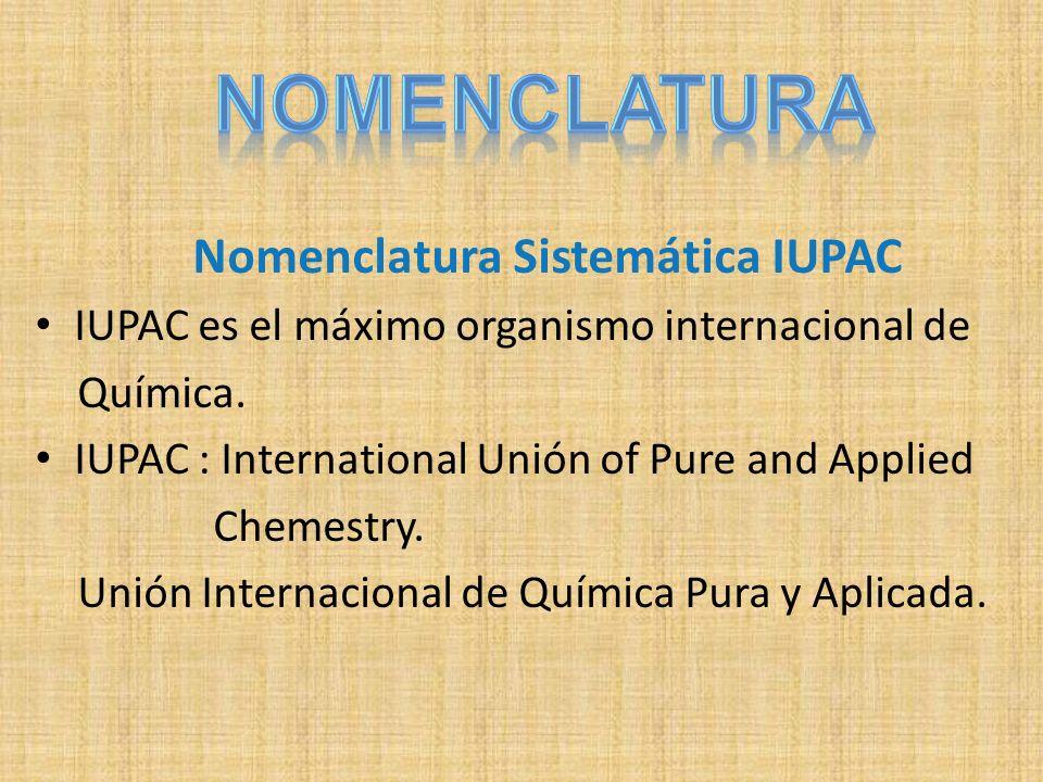 Nomenclatura Sistemática IUPAC
