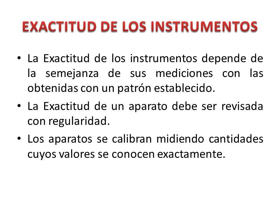 EXACTITUD DE LOS INSTRUMENTOS