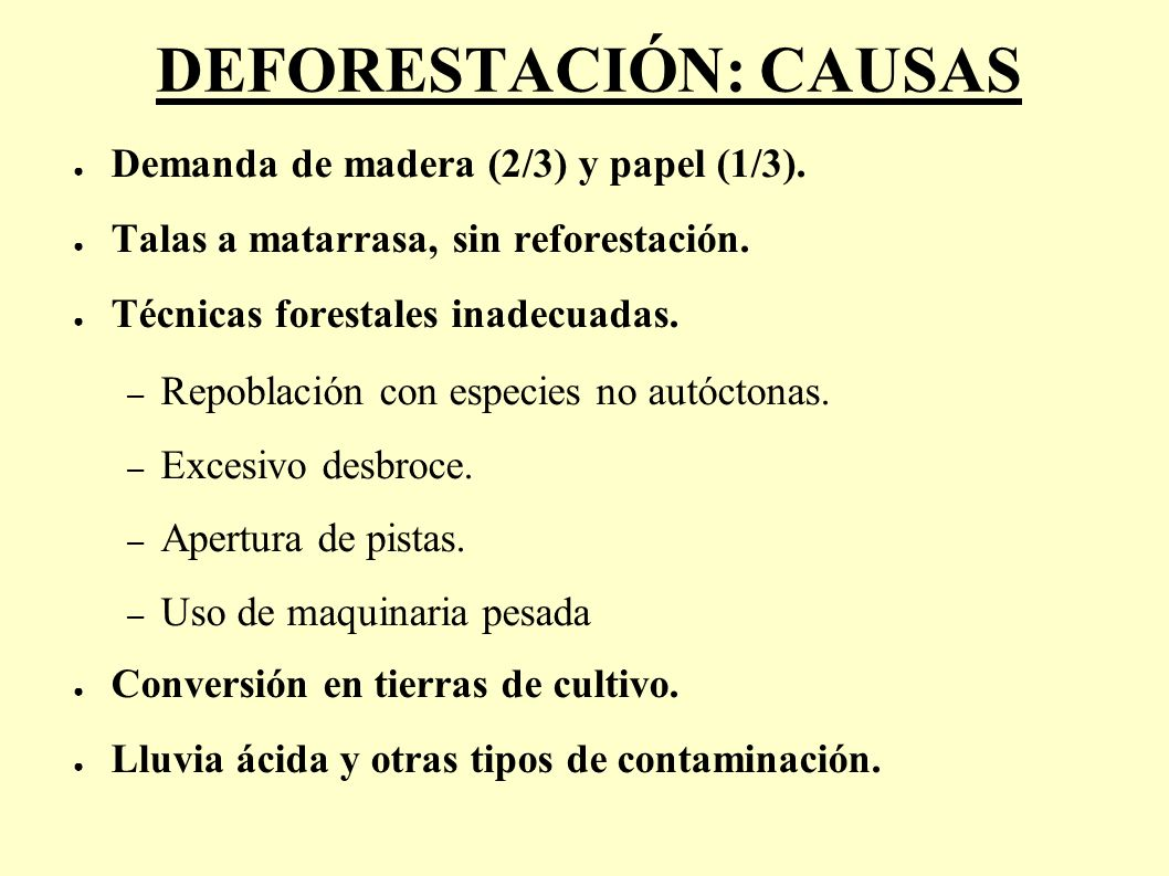 DEFORESTACIÓN: CAUSAS