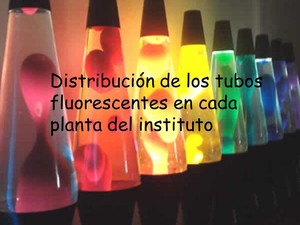 Distribución de los tubos fluorescentes en cada planta del instituto.