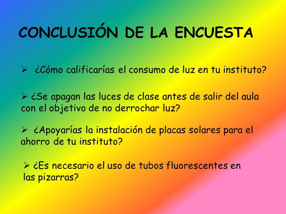 CONCLUSIÓN DE LA ENCUESTA