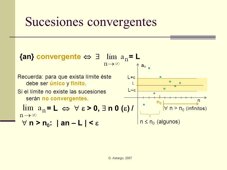 Sucesiones convergentes