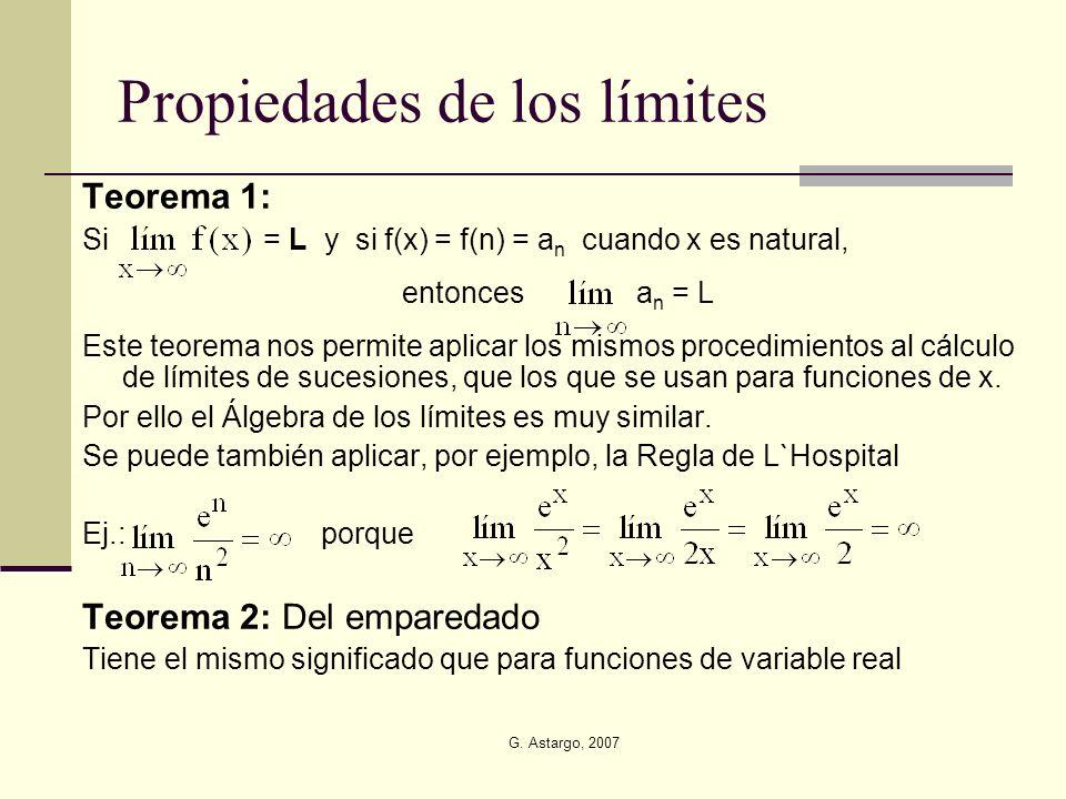 Propiedades de los límites