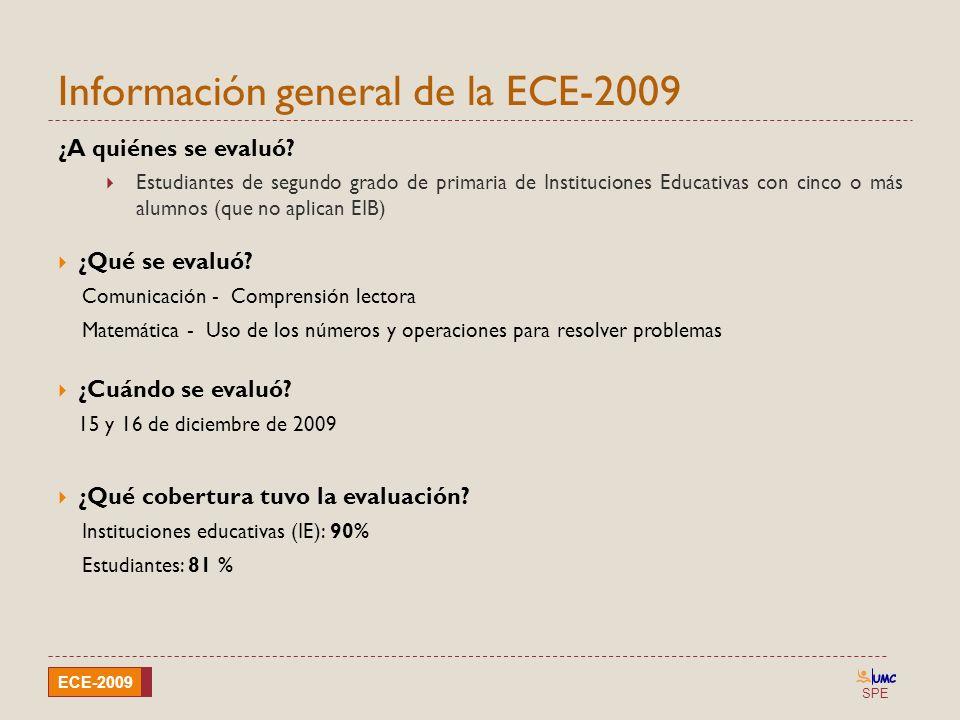 Información general de la ECE-2009