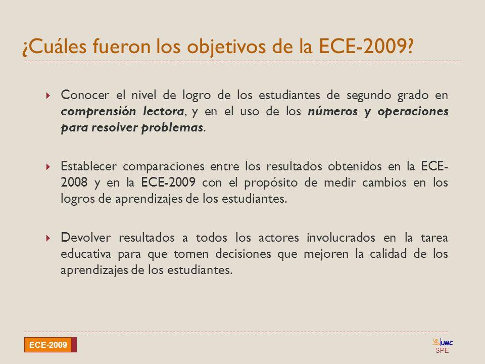 ¿Cuáles fueron los objetivos de la ECE-2009