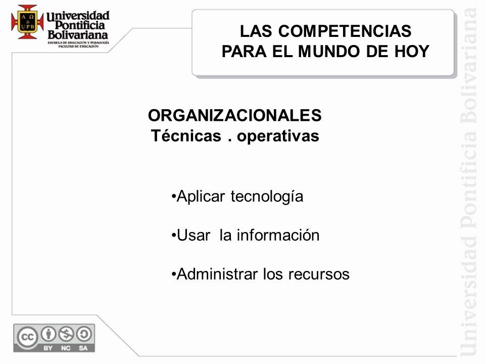 LAS COMPETENCIAS PARA EL MUNDO DE HOY