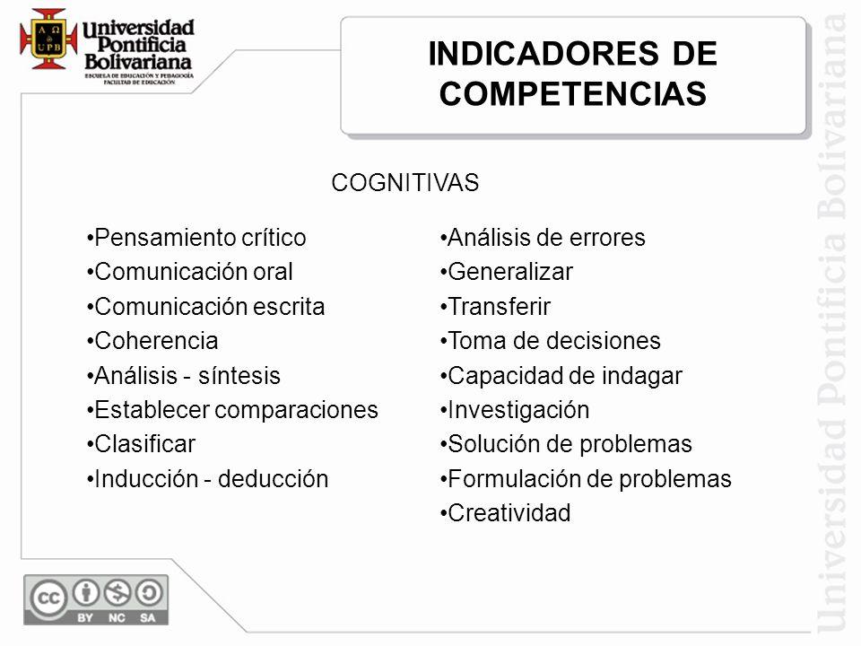 INDICADORES DE COMPETENCIAS