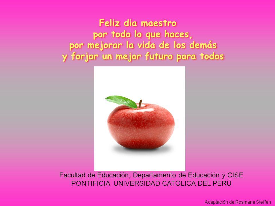 Feliz dia maestro por todo lo que haces, por mejorar la vida de los demás y forjar un mejor futuro para todos