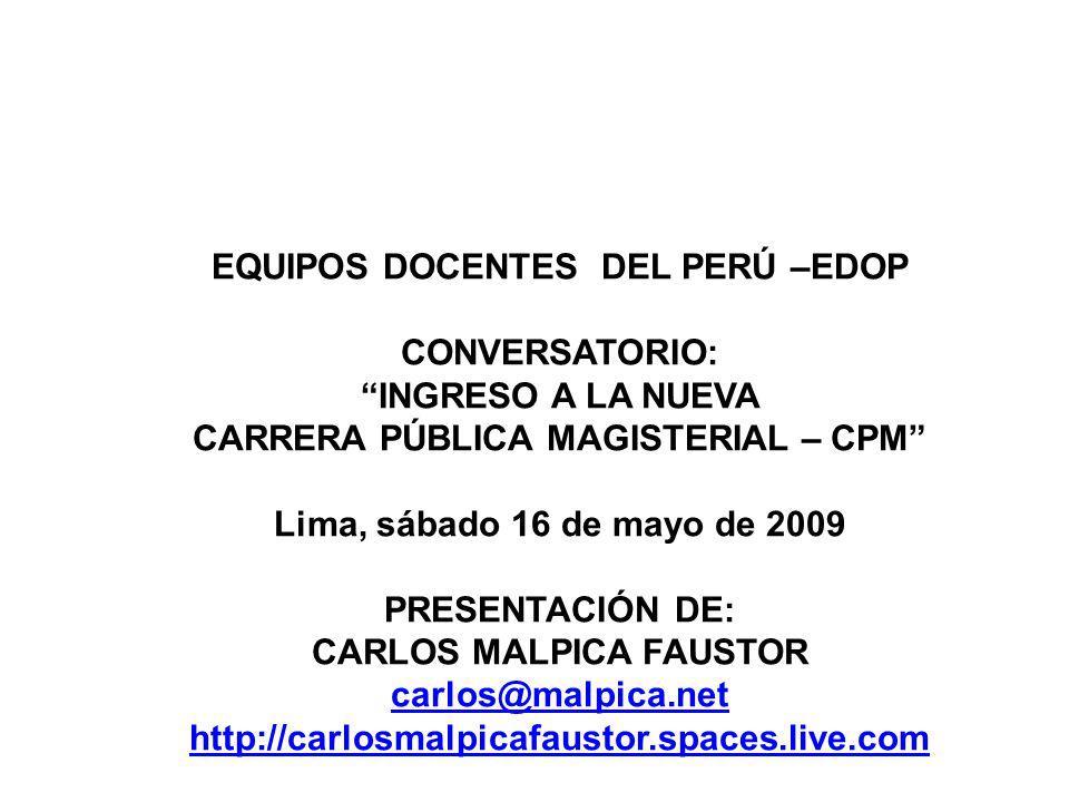 EQUIPOS DOCENTES DEL PERÚ –EDOP