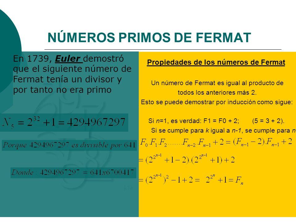 NÚMEROS PRIMOS DE FERMAT