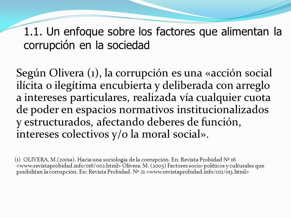1.1. Un enfoque sobre los factores que alimentan la corrupción en la sociedad