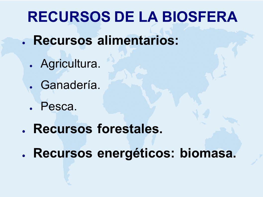 RECURSOS DE LA BIOSFERA