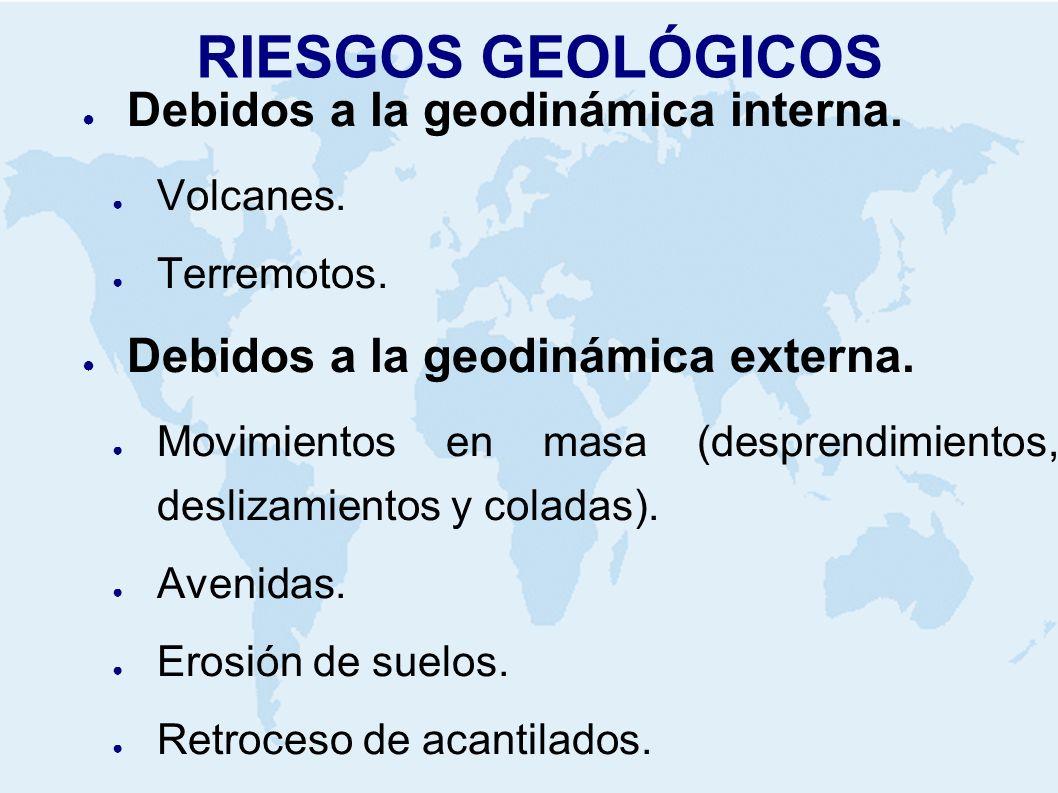 RIESGOS GEOLÓGICOS Debidos a la geodinámica interna.