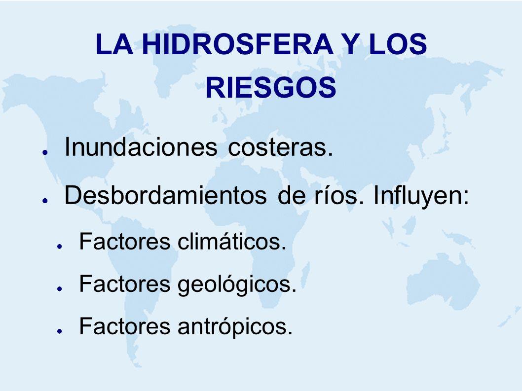 LA HIDROSFERA Y LOS RIESGOS