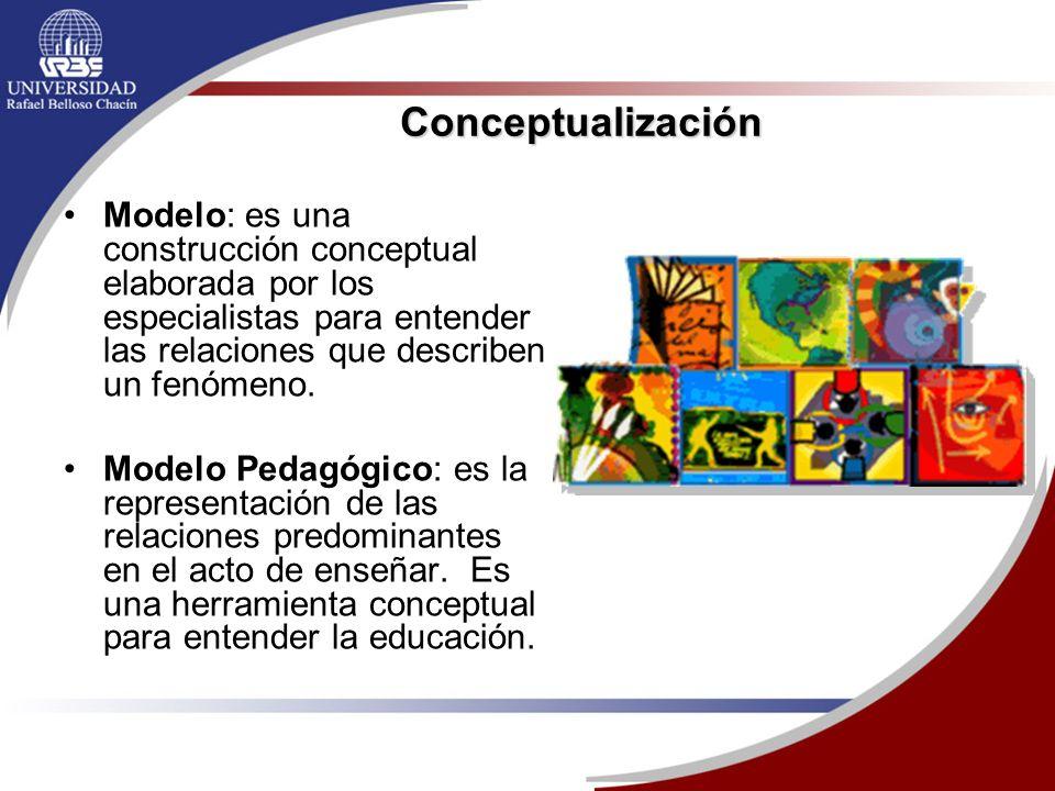 Conceptualización Modelo: es una construcción conceptual elaborada por los especialistas para entender las relaciones que describen un fenómeno.