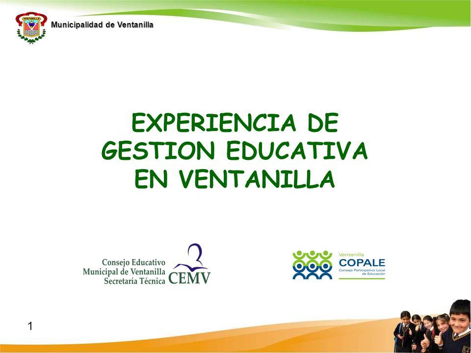 EXPERIENCIA DE GESTION EDUCATIVA EN VENTANILLA